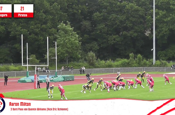 Highlights: Lübeck Cougars - Elmshorn Fighting Pirates (26. Mai 2019)