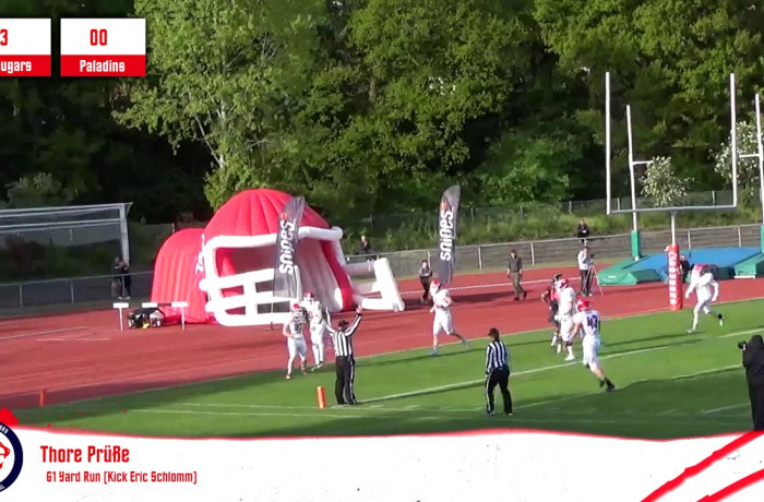 Highlights: Lübeck Cougars - Solingen Paladins (4. Mai 2019)