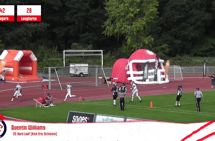 Highlights: Lübeck Cougars - Langenfeld Longhorns (25. August 2019)