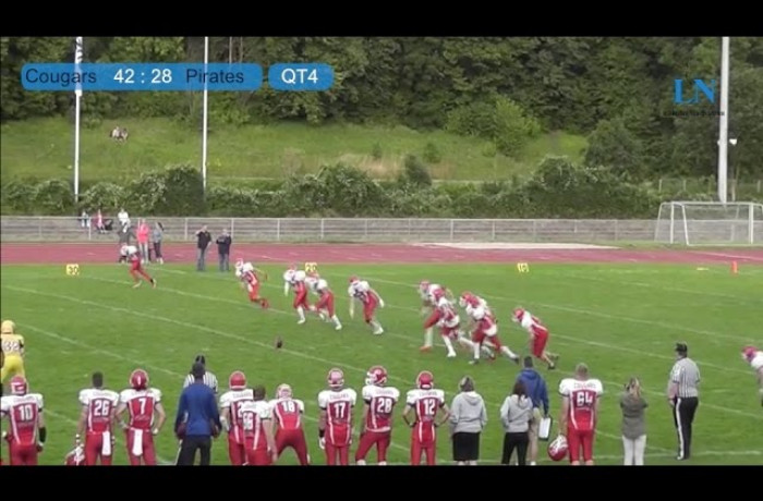 Highlights: Lübeck Cougars - Elmshorn Fighting Pirates (3. August 2015)