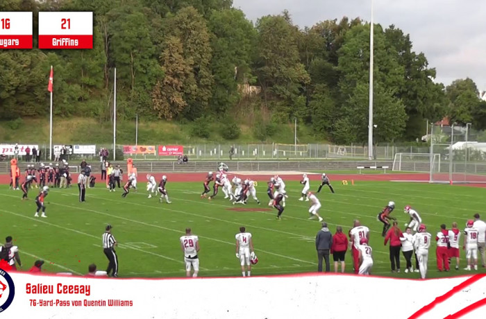 Highlights: Lübeck Cougars - Rostock Griffins (7. September 2019)