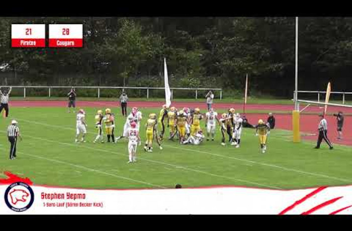 Highlights: Elmshorn Fighting Pirates - Lübeck Cougars (1. September 2019)
