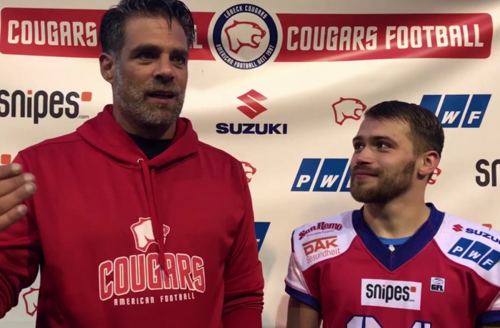 Lübeck Cougars - Berlin Adler, Post Game Interviews (25. August 2018)