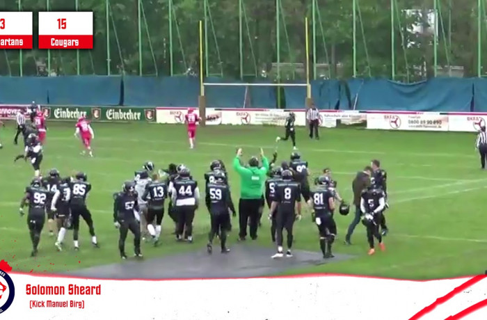 Highlights: Hannover Spartans - Lübeck Cougars (11. Mai 2019)